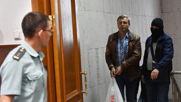 Заместитель председателя правления Пенсионного фонда России Алексей Иванов в суде. 12 июля 2019