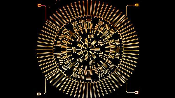Набор электродов, превращающий микрочип в аналог черной дыры или мини-Вселенную