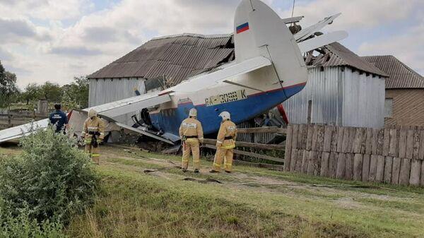 Падение легкомоторного самолета на дом в Чечне. 16 июля 2019