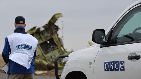 Представители ОБСЕ на месте крушения малайзийского самолета Boeing, выполнявшего рейс MH17 Амстердам — Куала-Лумпур