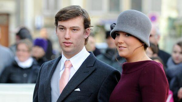 Принц Себастьян Люксембургский и его сестра принцесса Александра