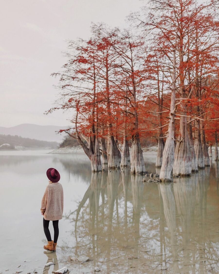 Кипарисовое озеро ранним утром. Анапа