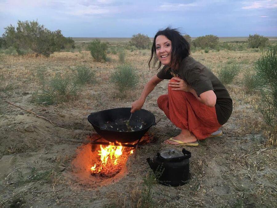 Легкий ужин, заповедник Барсакельмес, Казахстан