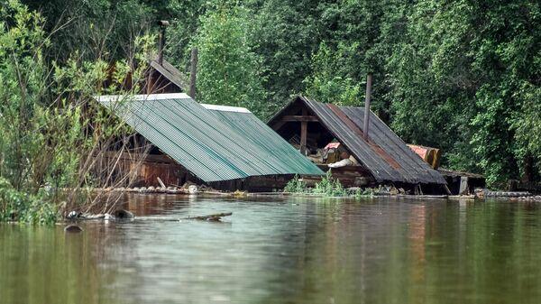 Затопленные дома в селе Норск в Селемджинском районе Амурской области