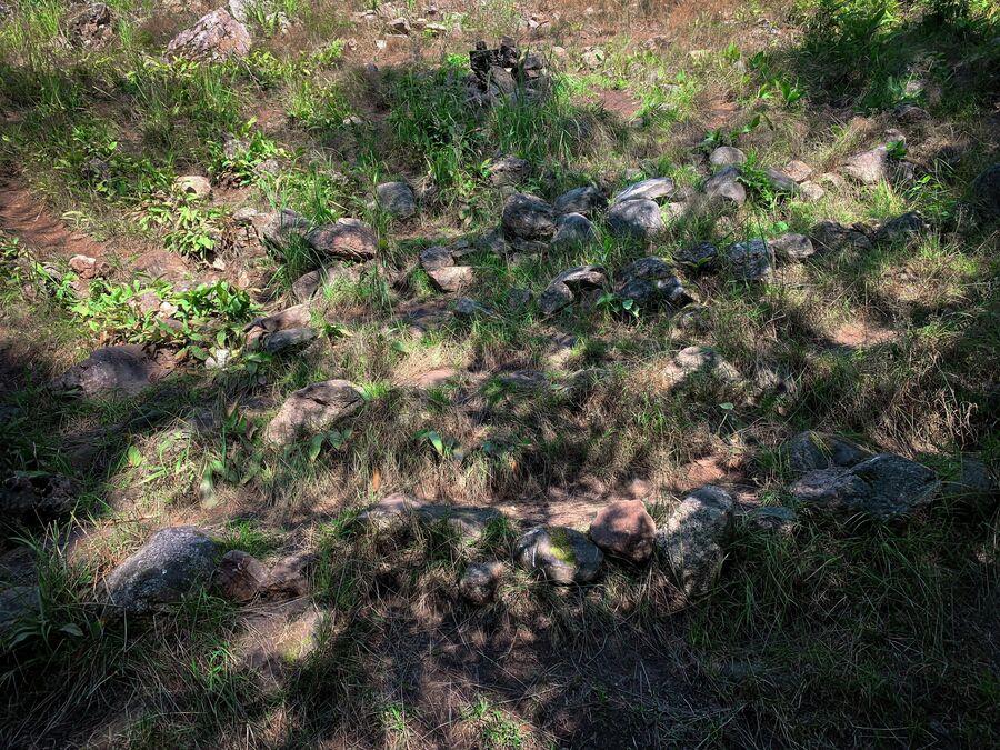 Карелия. Каменный лабиринт неподалеку от поселка Алхо.