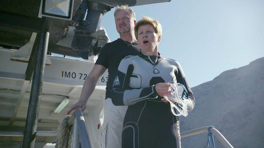 Мексика, остров Гуадалупе. Валдис Пельш и Анна Ардова во время съемок Большого Белого Танца