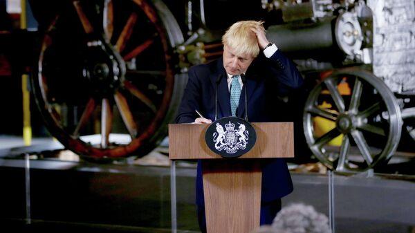 Премьер-министр Великобритании Борис Джонсон в Музее науки и промышленности в Манчестере. 27 июля 2019