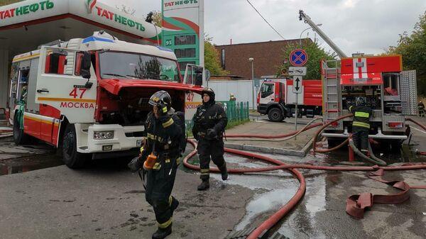 Пожар в здании у Павелецкого вокзала. 3 августа 2019
