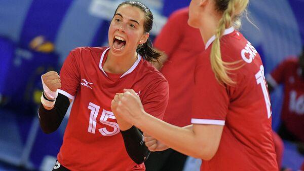 Волейбол. Женщины. Олимпийский отбор. Матч Россия - Канада