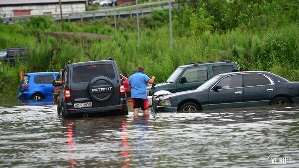 Последствия шторма Франциско во Владивостоке. 8 августа 2019