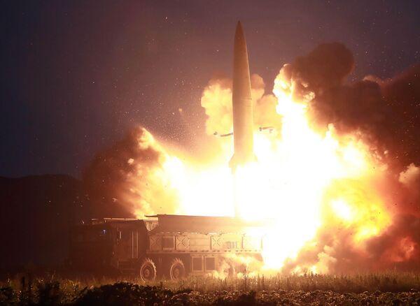 Запуск ракеты в Северной Корее. 6 августа 2019 года