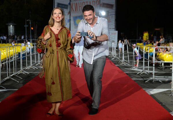 Актеры Ксения Собчак и её супруг Максим Виторган на Российском кинофестивале Кинотавр
