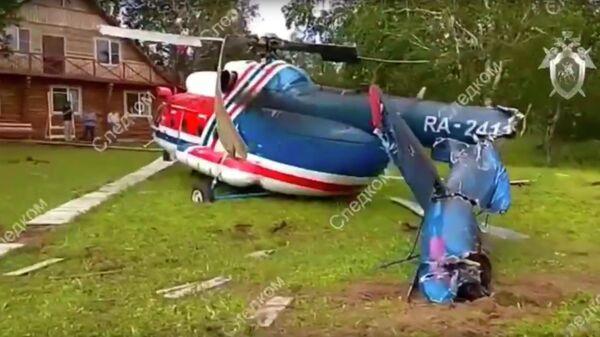 Вертолет Ми-8, совершивший жесткую посадку на Камчатке