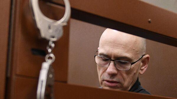 Бывший министр финансов Московской области Алексей Кузнецов на заседании Басманного суда Москвы