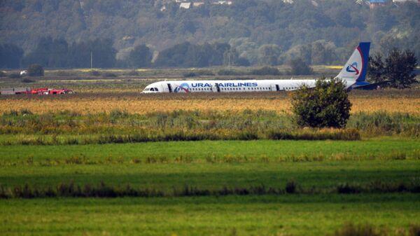 Самолет А-321 авиакомпании Уральские авиалинии с пассажирами на борту совершил аварийную посадку в Подмосковье