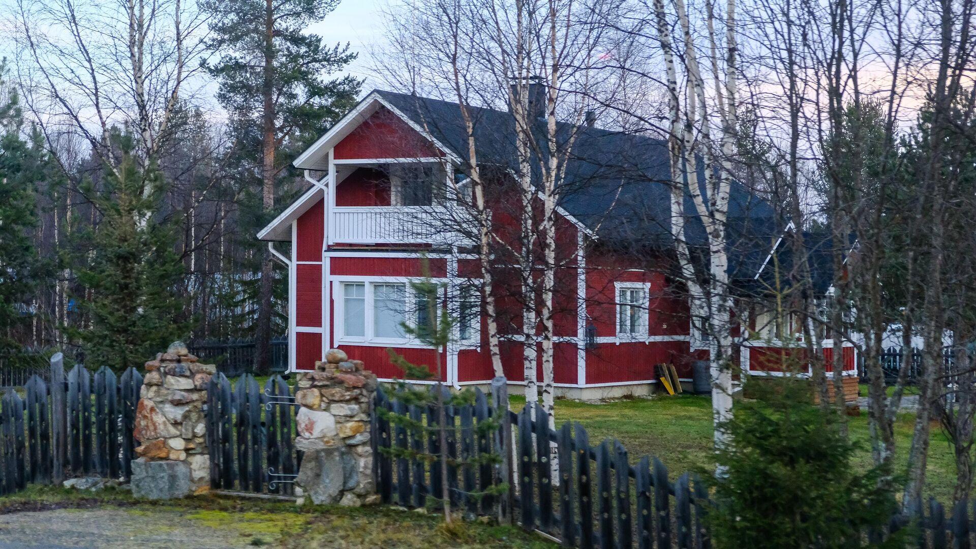 Жилой дом в посёлке Ивало в общине Инари провинции Лаппи в Финляндии - РИА Новости, 1920, 11.03.2020
