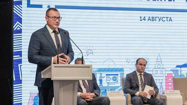 Председатель правительства Тульской области Валерий Шерин на региональном форуме проектного управления Национальные проекты - горизонт 2024