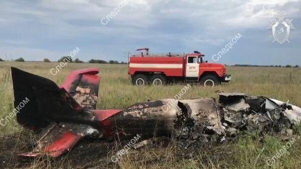 Под Самарой разбился легкомоторный самолет: кадры с места событий