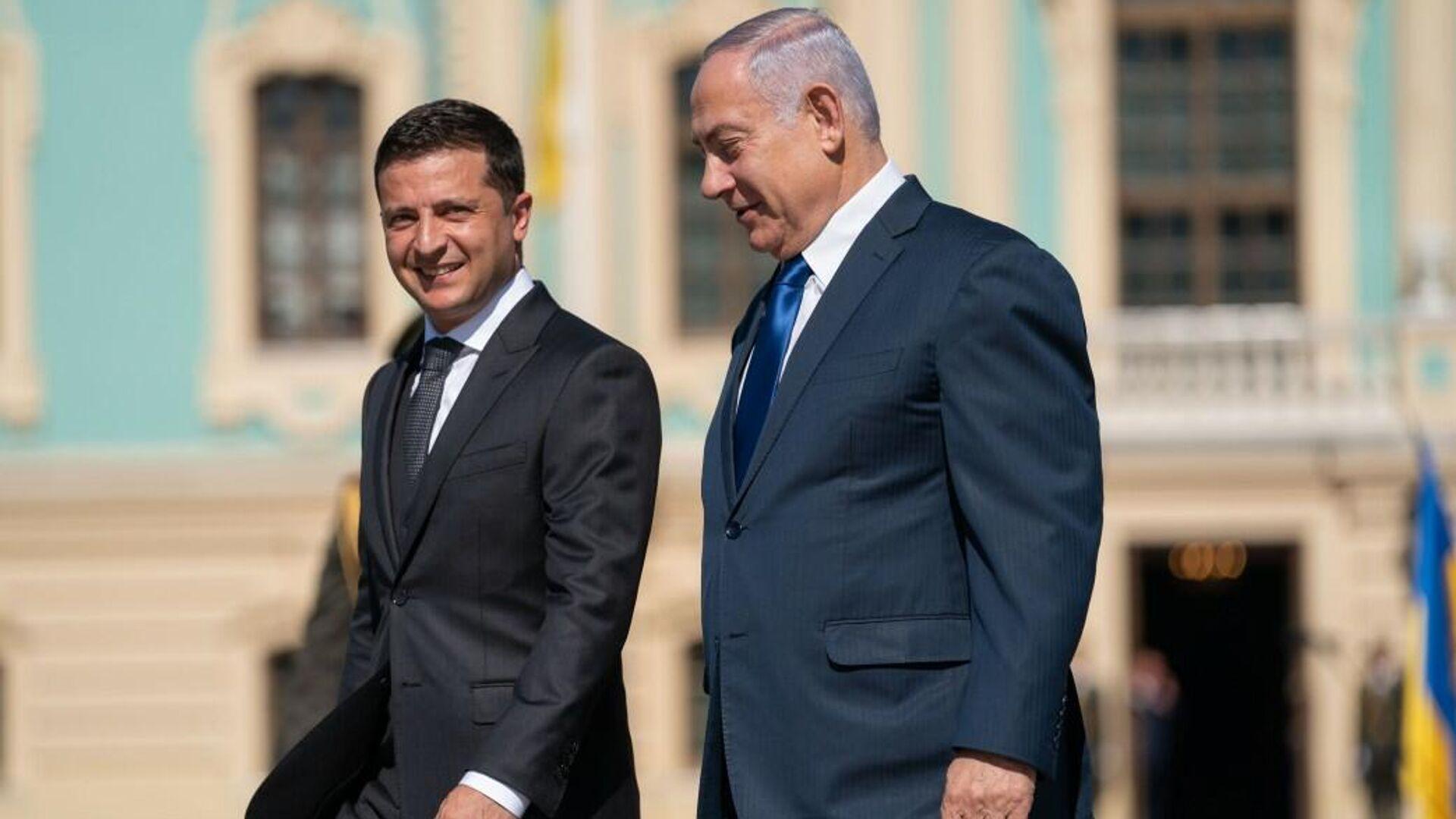 Президент Украины Владимир Зеленский и премьер-министр Израиля Биньямин Нетаньяху в Киеве - РИА Новости, 1920, 24.11.2020