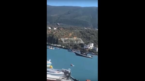 В Греции у острова Порос  упал вертолет