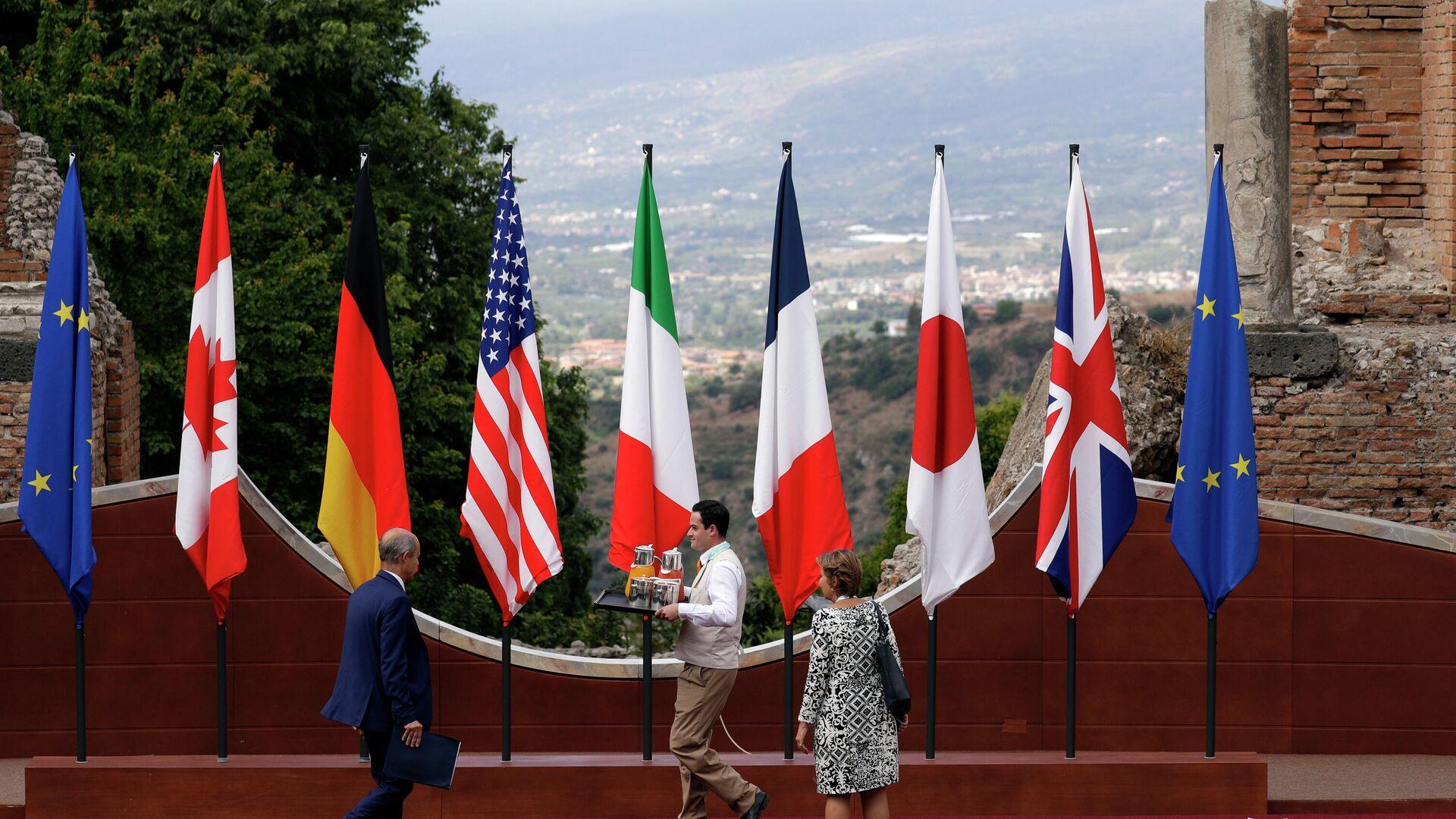 Флаги стран-участниц саммита G7 - РИА Новости, 1920, 12.06.2021