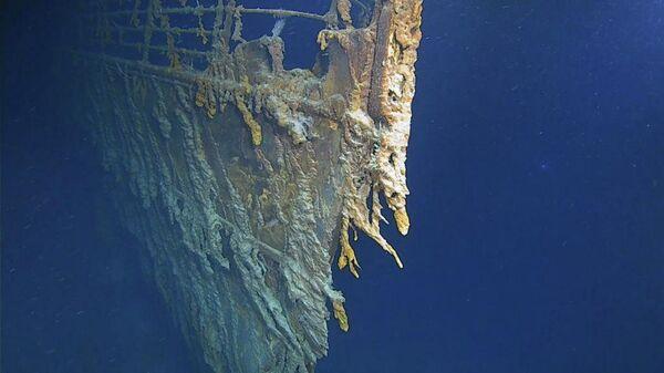Снимок, полученный во время экспедиции к обломкам Титаника