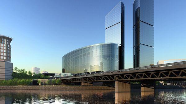 Архитектурная концепция территории делового комплекса Сбербанк Сити