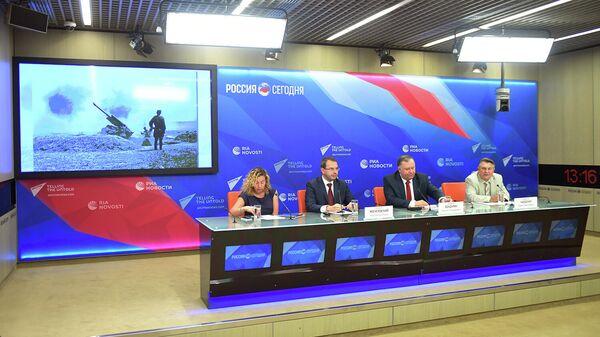 Мультимедийный видеомост Москва – Кишинев к 75-летию освобождения Молдавии в Международном мультимедийном пресс-центре МИА Россия сегодня