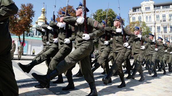 Репетиция парада в честь Дня Независимости Украины в центре Киева. 20 августа 2019