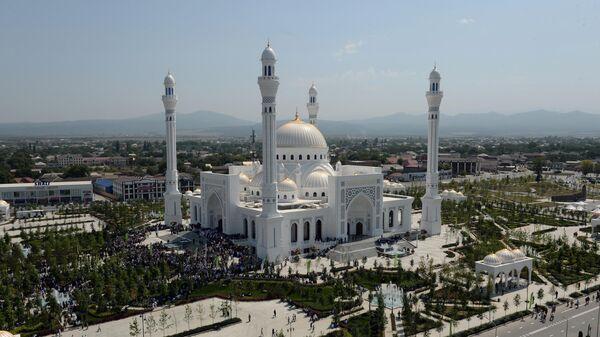 Открытие мечети имени пророка Муххаммеда в Шали. 23 августа 2019