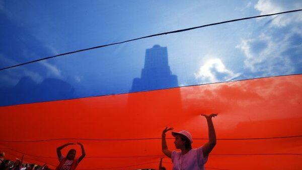 LIVE: В Москве отмечают День флага России