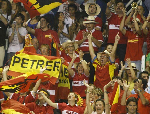 Испанские болельщики на финале Кубка Дэвиса