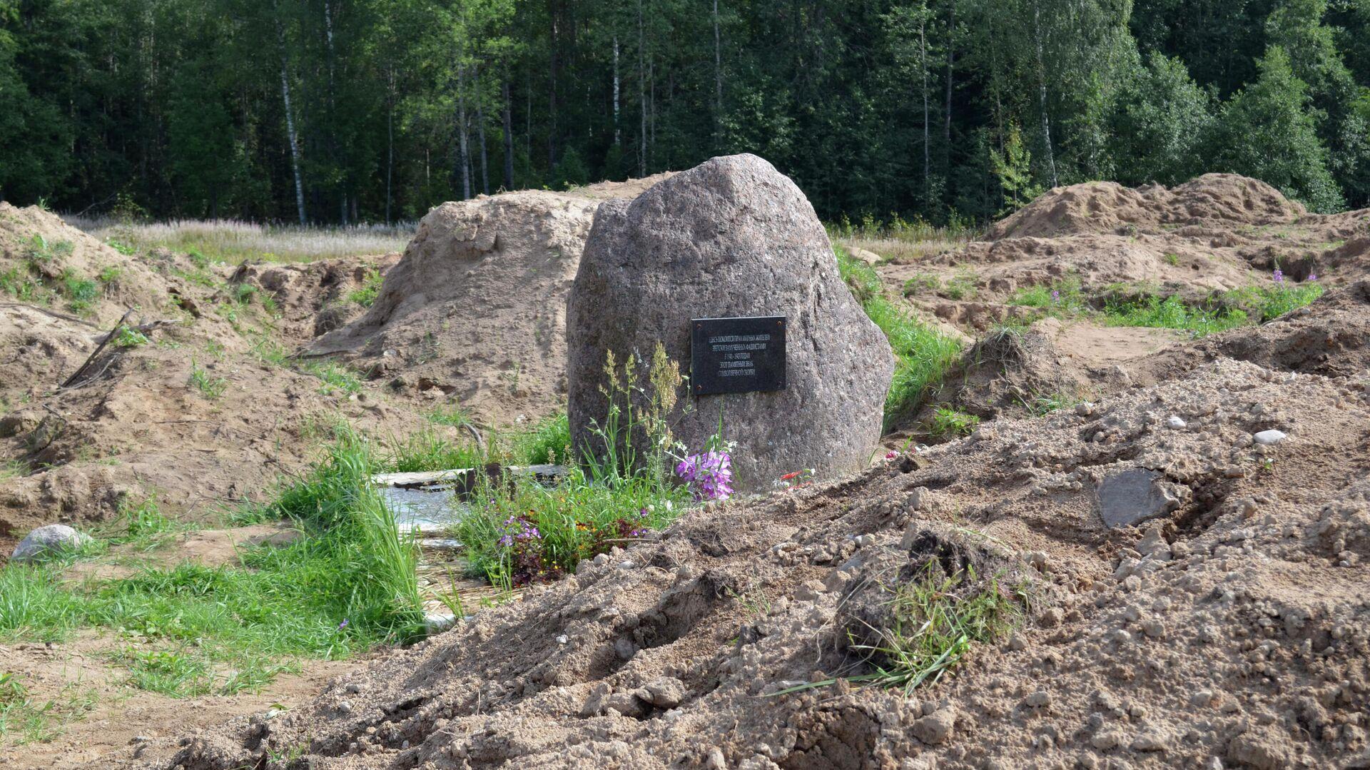 Место раскопок в районе деревни Жестяная Горка, где следователи обнаружили около 500 тел жертв латвийских карателей - РИА Новости, 1920, 27.10.2020