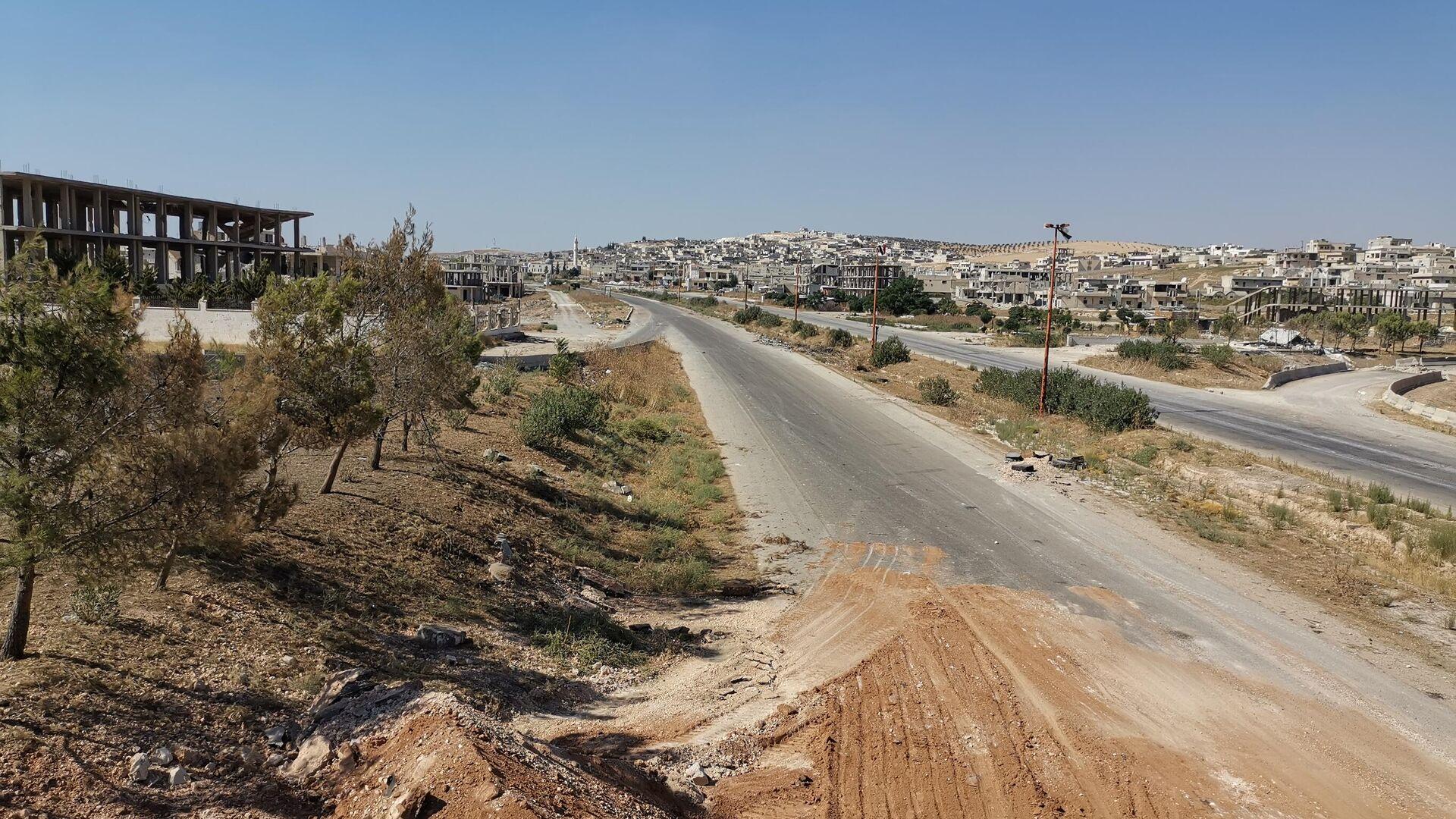 В сирийском Хан-Шейхуне начали восстанавливать инфраструктуру - РИА Новости, 1920, 28.02.2021