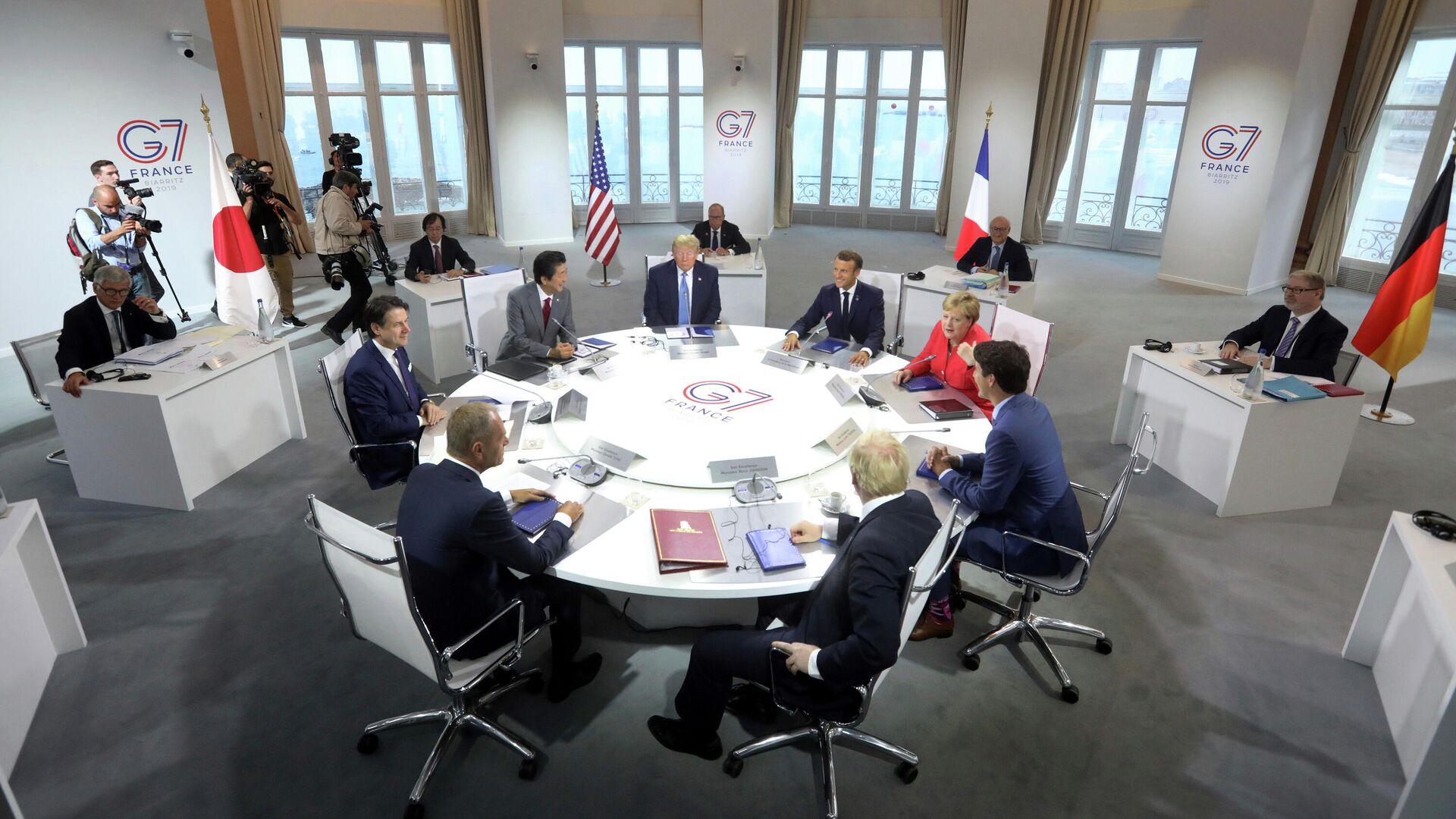 Рабочая встреча на полях саммита G7  - РИА Новости, 1920, 11.06.2021