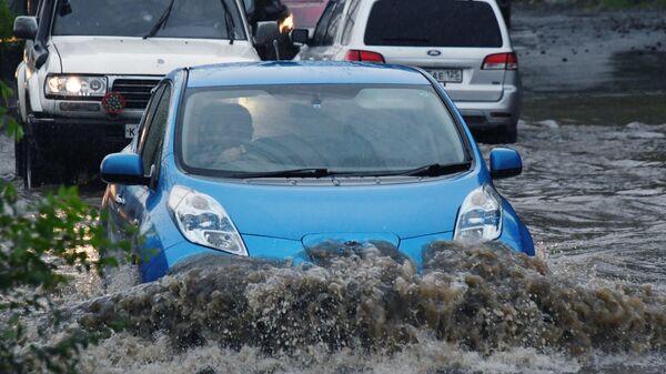 Последствия ливневых дождей во Владивостоке