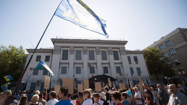 МИД призвал Украину обеспечить работу посольства России в Киеве