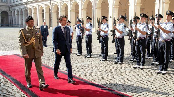 Премьер-министр Италии Джузеппе Конте в президентском дворце в Риме