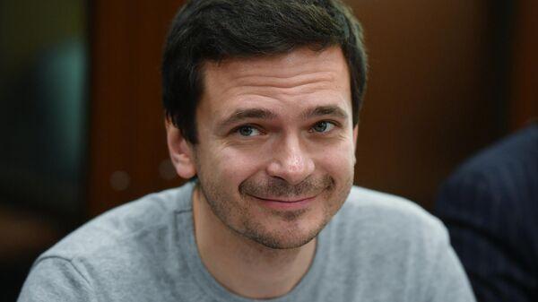 Незарегистрированный кандидат в депутаты Московской городской думы Илья Яшин, обвиняемый в призывах к несогласованному митингу 3 августа. 29 августа 2019