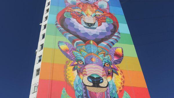 Стрит-арт фестиваль URBAN MORPHOGENESI. Farid Rueda (художник из Мексики)