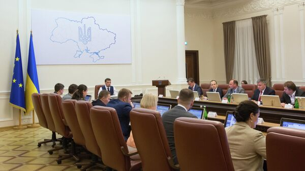 Заседание нового кабинета министров Украины