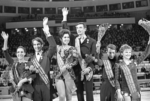Людмила Пахомова и Александр Горшков победили на чемпионате Европы в 1970 году