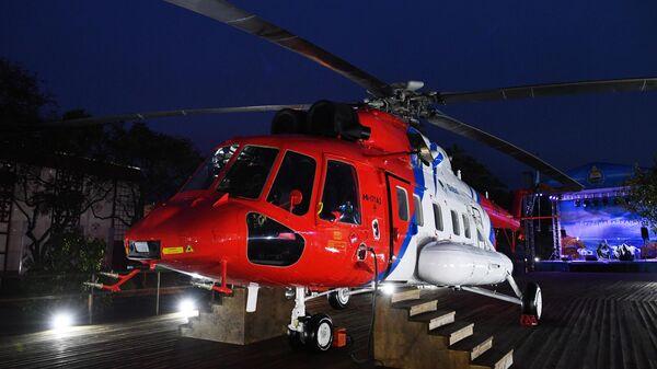 Вертолет Ми-171А2, изготовленный для индийской компании Vectra Group, на V Восточном экономическом форуме