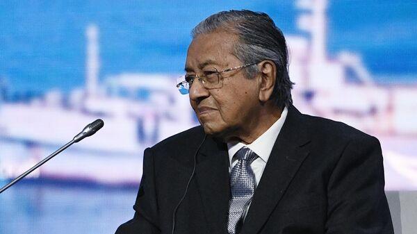 Премьер-министр Малайзии Мохатхир Мохамад на пленарном заседании V Восточного экономического форума