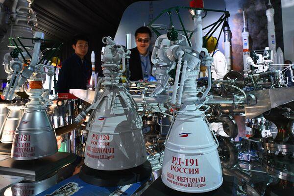 Ракетный двигатель носителя Антарес РД-181, ракетный двигатель для второй ступени РН Зенит РД-120 и ракетный маршевый двигатель с возможностью глубокого дросселирования тяги РД-19 на МАКС-2019