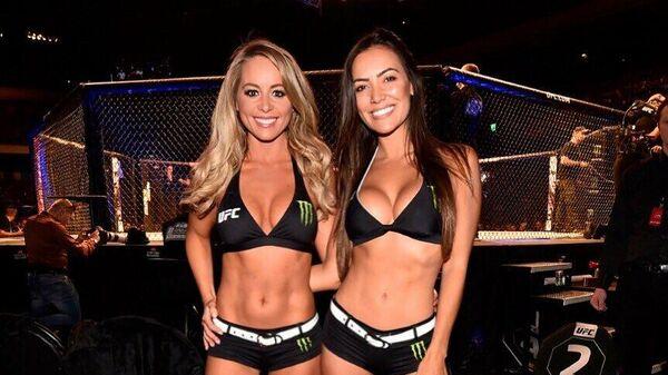 Октагон-герлз UFC Карли Бейкер (слева) и Люсиана Андраде