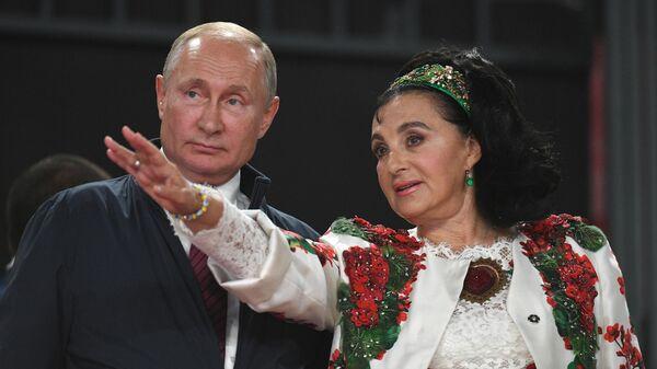 Президент РФ В. Путин посетил олимпийский комплекс Лужники в Москве
