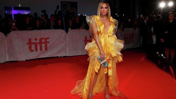 Американская актриса Дженнифер Лопес на Международном кинофестивале в Канадском Торонто