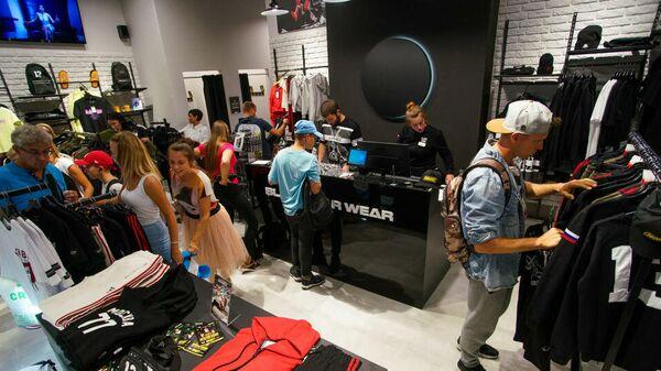 Магазин Black Star Wear в торговом центре Alfa в Риге