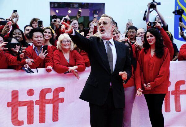 Американский актер Том Хэнкс на Международном кинофестивале в Торонто
